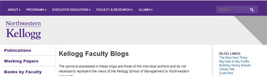 Kellogg Faculty Blogs