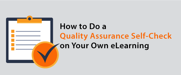 How to do a QA check on your own work