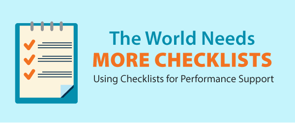 The World Needs More Checklists