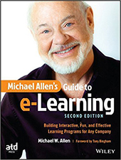 Michael Allen's Guide to eLearning book cover