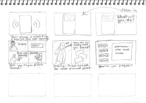 Thumbnail sketches inside rectangles