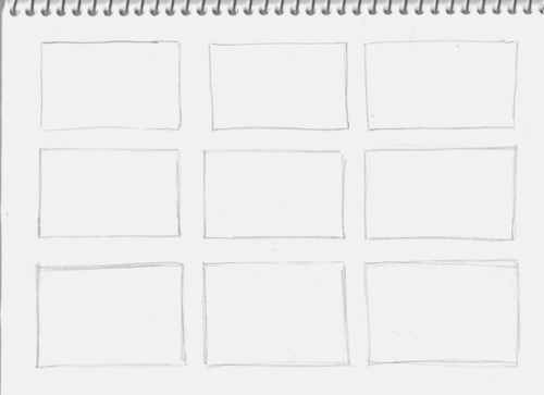 Empty rectangles for thumbnail sketches