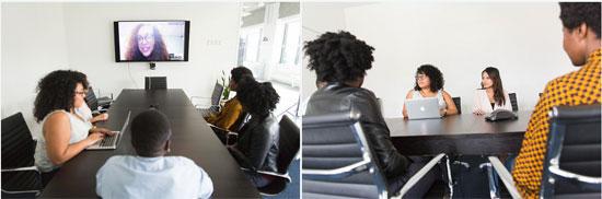 women of color at meetings