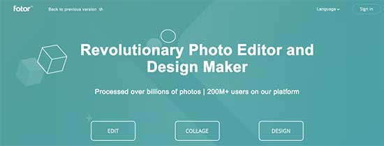 Fotor Image Editor