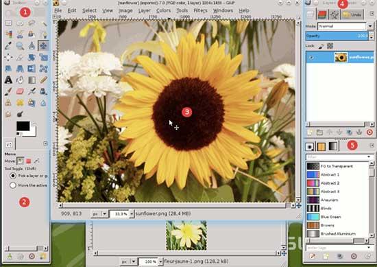 GIMP user interface