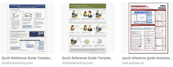 reference card templates