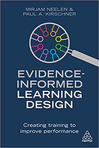 Evidence informed learning design book