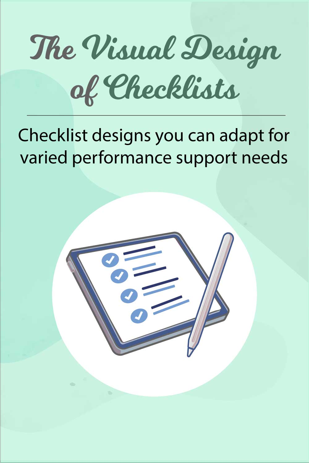 The Visual Design of Checklists