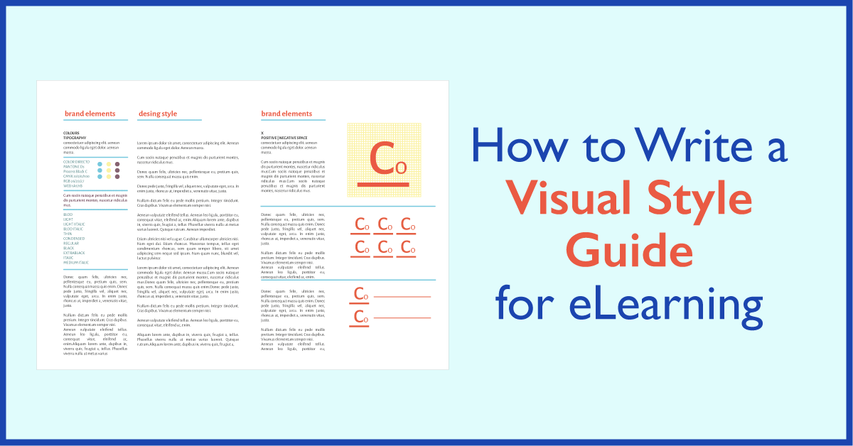 How To Write A Visual Style Guide for eLearning